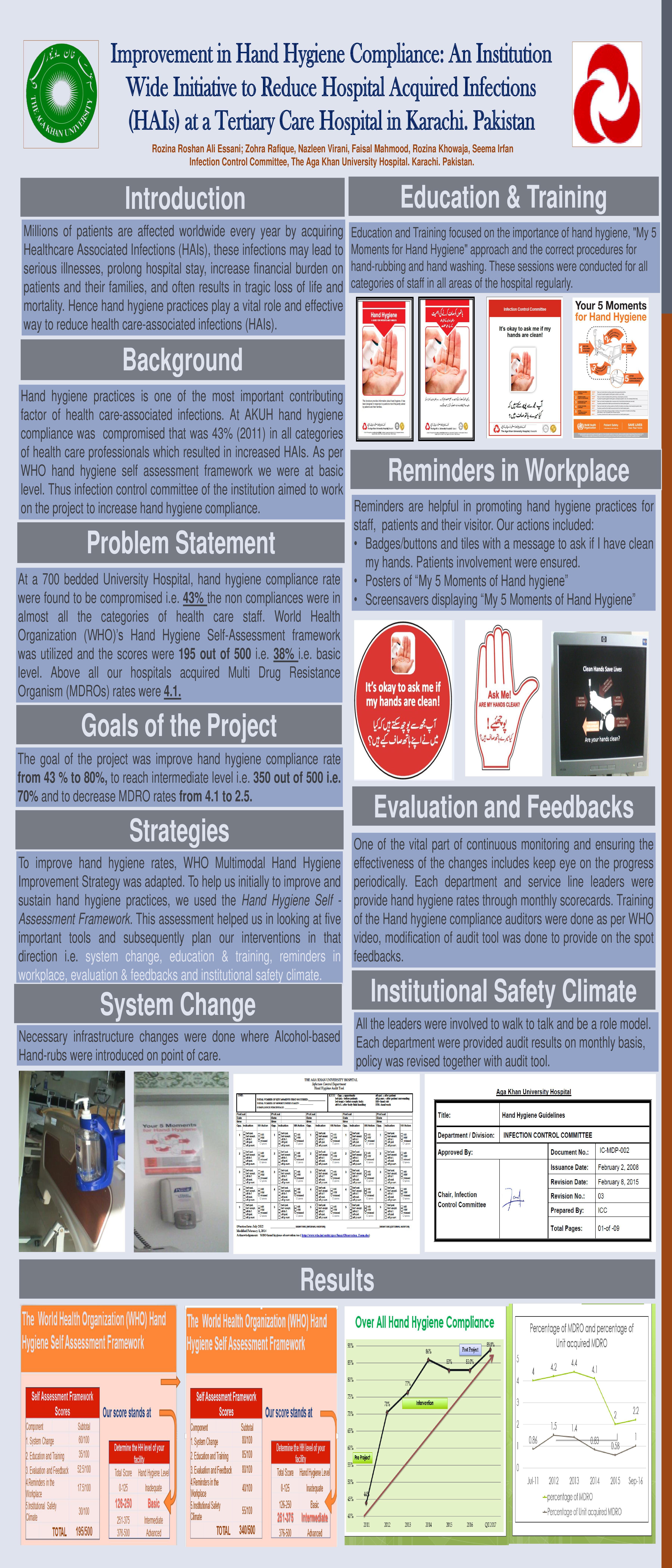 Improvement in Hand Hygiene Compliance An Institut