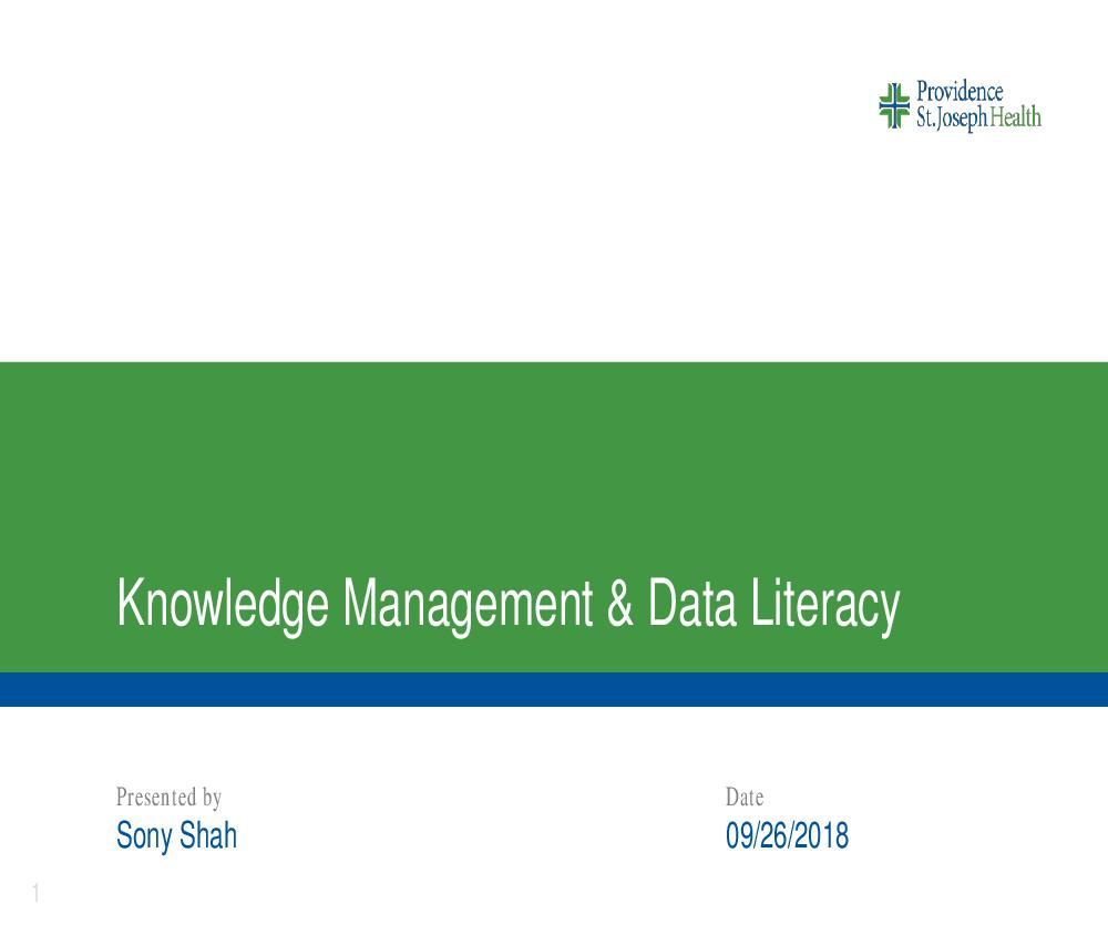 Data Literacy Program PSJH Sony Shah 2018