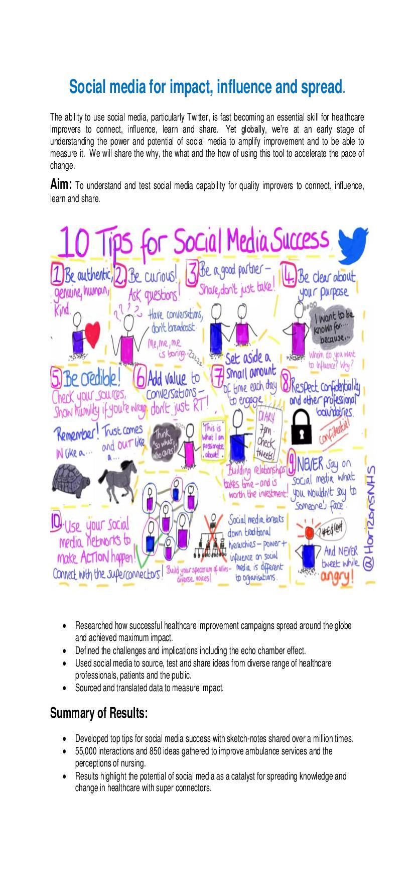 Storyboard social media for impact